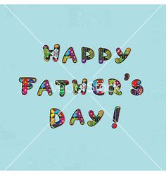 Fathers day card vector by richcat on VectorStock®