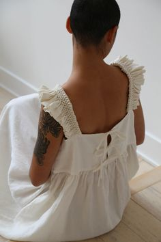 Ivory Silk, Gold Silk, Panel Hat, Traditional Fabric, Apron Dress, Bold Stripes, Fashion Sewing, Fashion Details, Smocking