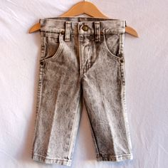 Vintage 1980s Heavyweight Denim Toddler Acid-Wash Wrangler Jeans With Original Tags