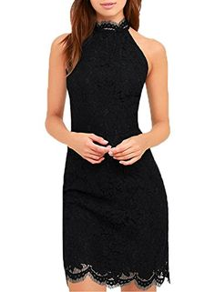 New Trending Formal Dresses: WOOSEA Women's Cocktail Dress High Neck Lace Dresses for Special Occasions (Medium, Black). Special Offer: $26.89 amazon.com Specifications: Please check your measurements to make sure the item fits before ordering. Size Information (just for reference): Size S:Bust(33inch), Waist(26.7inch),Hip(35.4inch),Length(37.4inch) Size M:Bust(35inch),...