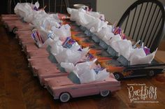 Serve food, snacks in or use as a treat bag. Kids treat bags toy cars, etc. Grease Themed Parties, 50s Theme Parties, Grease Party, Grad Parties, 50s Party Decorations, Fifties Party, 1950s Party, Sock Hop Party, Diner Party