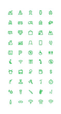 Outdoor Icons set by Chirag Dave, via Behance