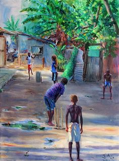 Haiti, El Salvador, Liberia: Trump insulted them all. We sent a travel writer to celebrate them. Village Scene Drawing, Art Village, Indian Art Paintings, Paintings I Love, Jamaican Art, Composition Painting, India Painting, Haitian Art, Pop Art Wallpaper