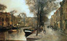 Bierkade in The Hague by Floris Arntzenius (Dutch 1864-1925)