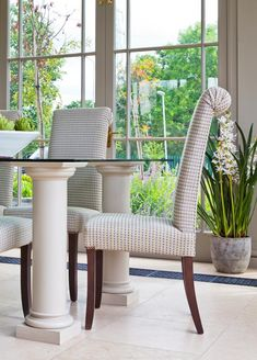 D'arcy Dining Chair. Conservatory Lighting, Conservatory Interiors, Conservatory Furniture, Dining Chairs, Indoor, Flooring, Elegant, Decoration, Table