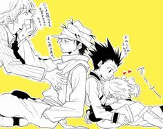 Pariston and Ging; Gon and Killua        ~Hunter X Hunter