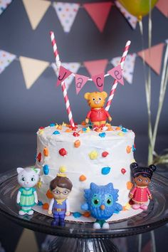 The Daniel Tiger smash cake we made for Jace's first smash cake session