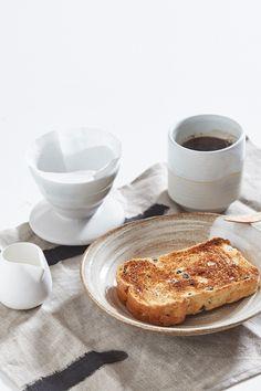 Ceramic Pour Over + Pinch Cup - Cream