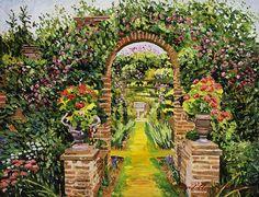 David Lloyd Glover - Gateway of Brick - acrylic on canvas