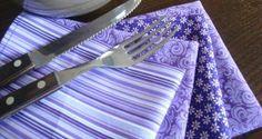 Guardanapo lilás. Lavander napkins.