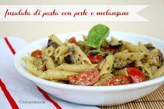 Insalata di pasta con pesto e melanzane - Ricetta primo estivo