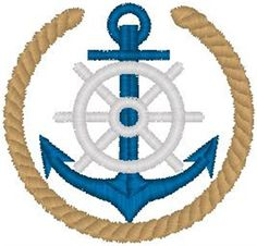 Embellishments Embroidery Design: Anchor Crest from Heavenly Designs Embroidery Ideas, Machine Embroidery, Business Logo, Man Cave, Anchor, Embellishments, Nautical, Quilts, Inspired