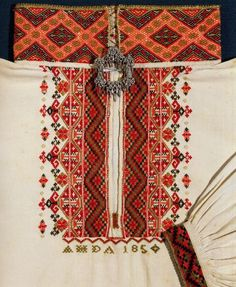 FolkCostume&Embroidery: East Telemark, Norway, embroidered shirts for Raudtrøye and Beltestakk Weaving Techniques, Embroidery Techniques, Crewel Embroidery, Embroidery Patterns, Seed Stitch, Cross Stitch, Wing Earrings, Folk Costume, Costumes