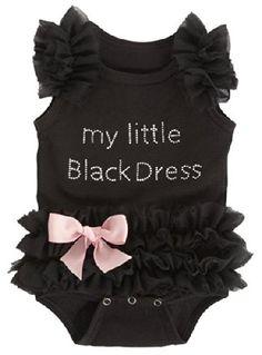Baby My Little Black Dress Onesie, Black,(0-6 Months)