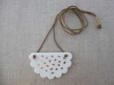 Sesame Biscuit Pendant by andODesign on Etsy