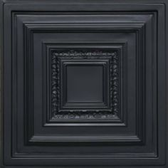 "Antyx Black (24x24"" Pvc) Ceiling Tile by Antique Ceilings. $6.65. Tin like look from a modern material. High quality PVC matterial. Can be painted with most any water or latex based paints. Universal Installation - Drop in Grid system, Glue-on, Nail-on. Easy to cut. PVC ceiling tiles come in 24""x24"" size. Feather-light, easy to install, easy to clean, stain resistant, water resistant, dust free, and easy to cut. They can be cut with any house hold scissors. Can be i..."