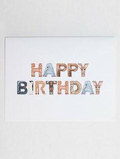 American Apparel - Happy Birthday Animal Greeting Card