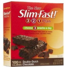 I'm learning all about Slim-Fast 3-2-1 100-Calorie Snack Bars Double Dutch Chocolate at @Influenster! @slimfast