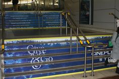 Cineplex Give & Go Campaign Stair Risers, Stairs, Calgary, Ticket, Campaign, Stairways, Stepping Stones, Stairway, Stair Steps