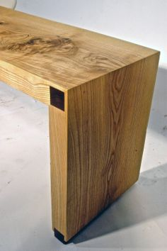 Ash Waterfall bench — Live Edge Store