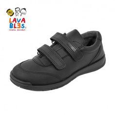 05954936016 Zapato escolar uniforme colegial niño reforzado Titanitos Apolo negro