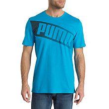Big Logo T-Shirt: Mit seinem großen PUMA-Logodruck sorgt dieses T-Shirt definitiv für Aufmerksamkeit.   Gerippter Rundhalskragen.   100 % Baumwolle.   Our model Enrico is 1.83m tall and a size M.