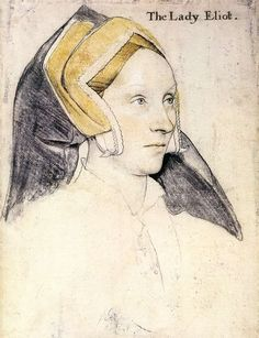 Excellent view of the caul, covered by the English Gable headdress, with fabric hair covering.