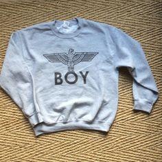 BOY LONDON SWEATSHIRT BOY LONDON HEATHER GREY SWEATSHIRT no flaws Tops Sweatshirts & Hoodies