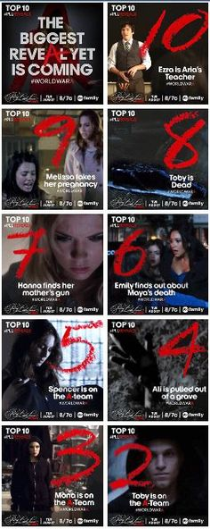 Top 10 Reveals on Pretty Little Liars
