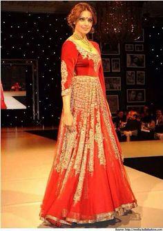 Red lehenga.. Model- Bipasha Basu