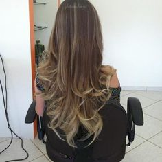 Ombre blonde and brown