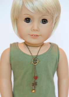 American Girl Doll necklace - boho style on Etsy, $4.50