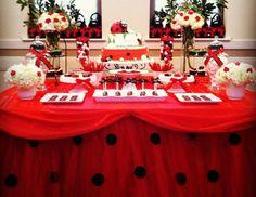 Julissa C's Birthday / Ladybug Birthday Party - Photo Gallery at Catch My Party Birthday Bash, First Birthday Parties, Birthday Party Decorations, Girl Birthday, Baby Ladybug, Ladybug Party, Ladybug 1st Birthdays, First Birthdays, Picnic Baby Showers