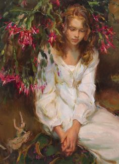 Daniel F Gerhartz - Interesting thing is I believe the flora is a Christmas Cactus! Canvases
