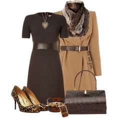 browns by livewithgrace on Polyvore featuring Michael Kors, Oasis, Prada, MOOD and River Island
