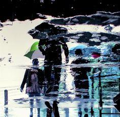 Walk on the rain Walk On, Fine Art Photography, Rain, Creative, Painting, Image, Rain Fall, Painting Art, Paintings