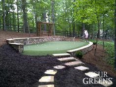 "Get fantastic ideas on ""Golf Greens"". They are actually offered for you on our site. Outdoor Putting Green, Golf Putting Green, Golf Green, Backyard Games, Backyard Landscaping, Backyard Ideas, Landscaping Ideas, Green Photo, Back Gardens"