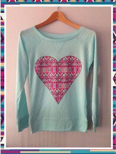 Aztec pink heart