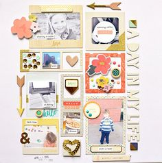 #papercrafting #scrapbook #layout - A Day in the Life with Jen Chapin