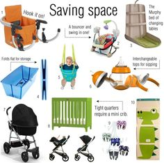 Saving space: We love these contractable and portable necessities for baby.