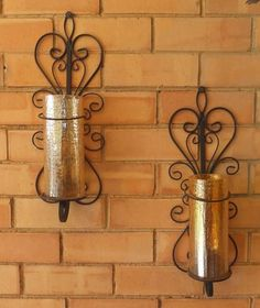 Antique Metal Candle Holders For Wall Decor