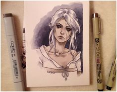 Ciri by kate-n-bd on @DeviantArt
