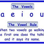 This chart helps young readers remember what to do with words with more than one vowel.  Once the rule is repeated rhythmically so the children hav...