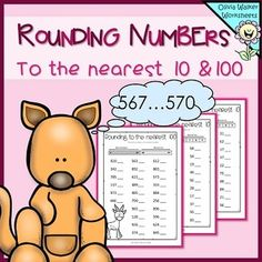 Rounding Numbers To The Nearest 10 And 100 - Round Whole Numbers Worksheets Kindergarten Centers, Math Centers, Rounding Whole Numbers, Math Round, Math Classroom, Maths, Classroom Ideas, Second Grade Math, Grade 2