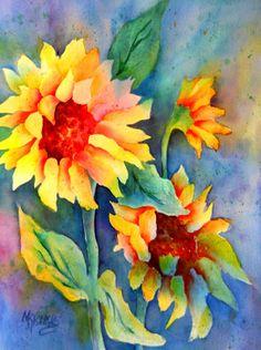 Creative Painting by Martha Kisling: SUNSHINE Sunflowers and Win an Art Print