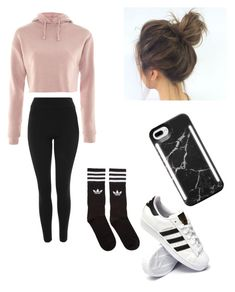 """Untitled #78"" by haileymagana on Polyvore featuring Topshop, adidas, adidas Originals and LuMee"