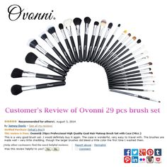 Exact dupe of the Sigma Extravaganza Brush Set that retails for over $300,  this set is only $48!! The set feels very luxurious, nice sturdy case,  and the quality of the brushes are amazing. http://www.amazon.com/gp/product/B00ICAH6NO  Super soft and a ton of variety.#makeup   #makeuptips   #ovonni    #makeupbrushes   #cosmetic   #beauty   #cosmeticbrushes   #professionalbrush