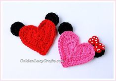 Mickey Mouse Crochet Applique