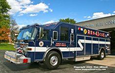 Plymouth, PA FD Rescue 43 - 2007 Pierce Dash 500 gpm/300 gal. Heavy Rescue Squad.