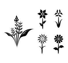 Flower black and white vector silhouette. 1000+ awesome free vector images, psd templates, icons, photos, mock-ups and more!